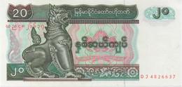 Myanmar : 20 Kyats UNC - Myanmar