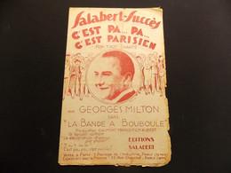 Partition C Est Pa Pa C Est Parisien Fox Trot Chanté Georges Milton - Music & Instruments
