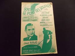 Partition Sous Le Pont Des Soupirs Valse Sérénade Jean Sirjo - Music & Instruments
