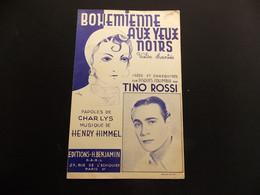 Partition Bohemienne Aux Yeux Noirs Tino Rossi Illustrateur Wurth Valse Chantée - Music & Instruments
