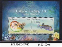MALAYSIA - 2006 UNIQUE MARINE LIFE / FISH MIN/SHT MNH - Malaysia (1964-...)