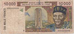Afrique De L'Ouest : 10000 Francs Lettre A (mauvais état) - Autres - Afrique