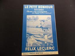 Partition Le Petit Bonheur Félix Leclerc Le Canadien - Music & Instruments