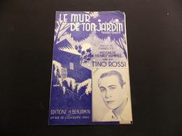 Partition Le Mur De Ton Jardin Tango Chanté Tino Rossi - Music & Instruments