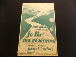 Partition Je Tir Ma Révérence J Sablon R Smith Illustrateur Pascal Bastia - Music & Instruments