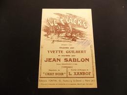 Partition Le Fiacre Y Guilbert Jean Sablon - Music & Instruments