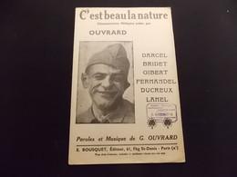 Partition C Est Beau La Nature Chansonnette Militaire Ouvrard - Music & Instruments