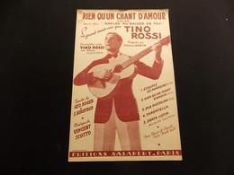 Partition Rien Qu Un Chant D Amour Valse Tino Rossi - Music & Instruments