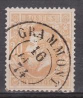 33 DC Grammont 1874 - TB Centrage - 1869-1883 Leopoldo II