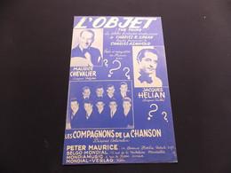 Partition L Objet Maurice Chevalier J Helian Les Compagnons De La Chanson - Music & Instruments