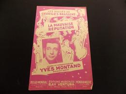 Partition La Mauvaise Réputation Y Montand G Brassens - Music & Instruments