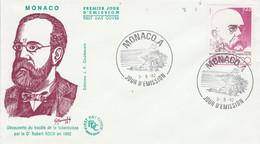 MONACO FDC 1982 ROBERT KOCH TUBERCULOSE - FDC