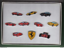 COFFRET COLLECTOR FERRARI *** 10 Pin's AUTO-JOURNAL *** - Ferrari