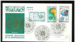 FDC Maroc Journée Mondiale Météorologie 1964 - Morocco (1956-...)
