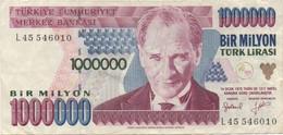 Turquie Turkey : 1000000 Lirasi (bon état) - Turquie