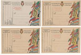 1915 GRANDE GUERRA 4 FRANCHIGIE MILITARI NUOVE - Militaire Post (PM)