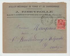 GIRONDE: J. RIBEYROLLE, Forges Charronnage à St Christophe De Double / LSC Des Eglisottes De 1931 - 1921-1960: Periodo Moderno