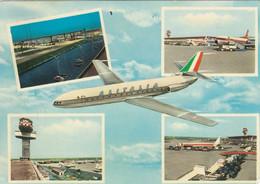 AEROPORTO-AIRPORT-AEROPORT-FLUGHAFEN- FIUMICINO-ROMA-ITALY- CARTOLINA VERA FOTOGRAFIA- VIAGGIATA IL 2-4-1963 - Aerodromes