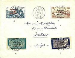 SECOURS NATIONAL N° 211 à 214 (rare Sur Lettre) Cachet De LOME Pour Dakar -1941 - - Covers & Documents