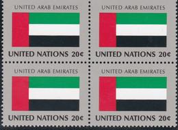 NATIONS UNIES, UNITED ARAB EMIRATES, Drapeau, Bloc De 4, Belle Gomme - Altri