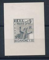 DS-474: DAHOMEY: Lot Avec  Petite épreuve Sur Papier Carton En Noir D'un Non émis  TB - Non Classés