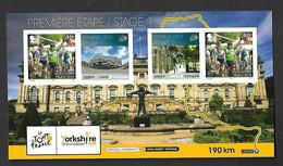 ISLE OF MAN 2014 Tour De France Postal Stationary Mint  Stage 1 Mark Cavendish Velo Bike Cyclisme - Isla De Man