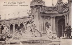 CPA 13 - MARSEILLE - EXPOSITION COLONIALE 1922 - Entrée Du Grand Palais - La Fontaine - Colonial Exhibitions 1906 - 1922