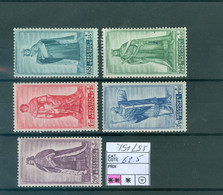 751-755  Xx  Côte 62.50€ - Unused Stamps