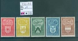 743-747  Xx  Côte 19.00€ - Unused Stamps