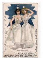DC4308 - Junge Damen, Zwei Äuglein Braun, Zwei Äuglein Blau, Berlin 1902, Hünsche Damen - Donne