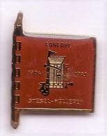RR194 Pin's Groupe Fanfare Trompette Saxo Flute Stesel Helleref Stesel Melleref  Luxembourg Achat Immédiat - Music