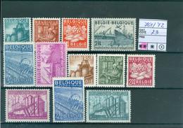 761-772  Xx  Côte 73.00€ - Unused Stamps