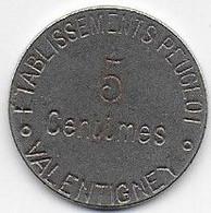 VALENTIGNEY - Etablissements Peugeot - 5 C - Monetari / Di Necessità