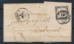 DS-479: FRANCE: Lot Avec  Lettre Avec Taxe N°1 - 1859-1955 Storia Postale