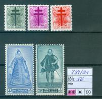 787-791  Xx  Côte 56.00€ - Unused Stamps