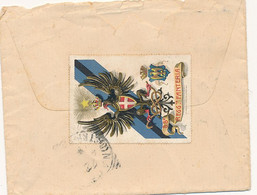 1906 DA FRANCAVILLA FONTANA LECCE TONDO RIQUADRATO CON BEL CHIUDILETTERA 88° FANTERIA ANNULLATO - Marcofilie
