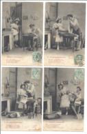 Ma Petite Blanchisseuse Lot De 4 Cartes Numérotées  ( 50447) - Couples