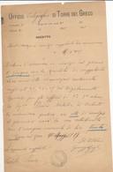 1917 TORRE DEL GRECO UFFICO TELEGRAFICO NOMINA SUPPLENTE UFFICI POSTALI DI 2A E 3A CLASSE - Marcophilia