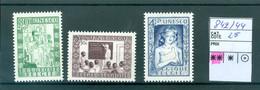 842-844  Xx  Côte 25.00€ - Unused Stamps