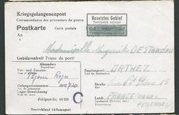"""Correspondance Prisonnier De Guerre """"kriegsgefangenenlager""""  Pour Territoire Occupé 25/10/1942    Lm20908 - Guerra Del 1939-45"""