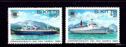 St Kitts 106-07 MNH 1983 Ships - St.Kitts Und Nevis ( 1983-...)