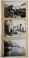 CAPRI ITALIE 3 PHOTOS XIXème GIORGIO SOMMER PHOTOGRAPHE PAPIER ALBUMINÉ GRAND FORMAT ALBUMEN PRINT - Oud (voor 1900)