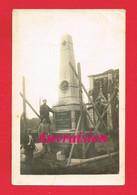 53 Mayenne VILLAINES LA JUHEL RARE***** Carte Photo Construction Du Monument Aux Morts - Villaines La Juhel