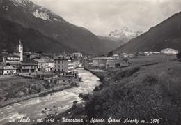 LA THUILE-AOSTA-PANORAMA-SFONDO GRAND ASSALY-CARTOLINA VERA FOTOGRAFIA VIAGGIATA IL 7-8-1963 - Aosta