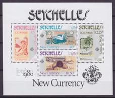 Seychelles 1980 Mi. Block 13 Miniature Sheet Bank-notes International Briefmarkenausstellung LONDON 1980, MNH** - Seychellen (1976-...)
