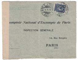 1915 - LETTRE COVER De ABO TURKU CACHET Et BANDE DE CENSURE Pour PARIS FRANCE OPPNATS AF KRIGCENSUREN TORNEA AVANNUT - Non Classificati