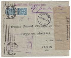 1919 - LETTRE COVER KJOBENHAVN AVEC CACHET Et BANDE DE CENSURE Pour PARIS FRANCE MILITARISCHERSEITS BERLIN - Non Classificati