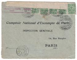 1915 - LETTRE COVER De NIKOLAISTADT CACHET BANDE DE CENSURE Pour PARIS FRANCE OPPNATS AF KRIGCENSUREN TORNEA AVANNUT - Non Classificati