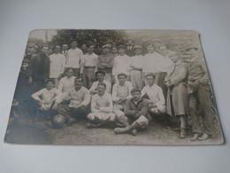 Carte Photo  équipe De Football Ancienne à Situé - Sport