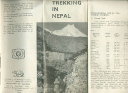 Vieux Papiers - Carte - Trekking In Nepal (en Anglais)- Dépliant Avec Carte - Geographical Maps